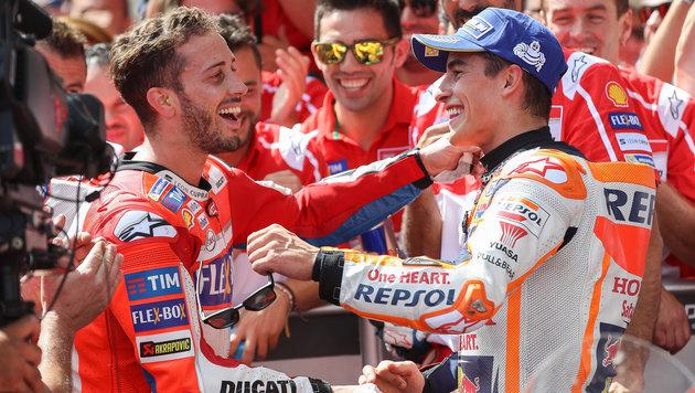 MotoGP: Spitzen-Duo lacht sich ins Fäustchen (Bild: GEPA)