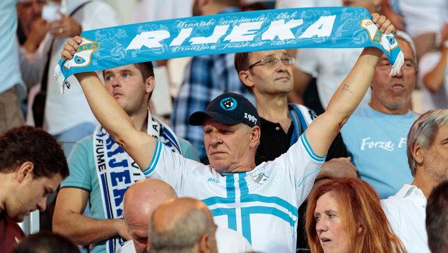 Piräus ringt Rijeka erst in Nachspielzeit nieder (Bild: APA/EXPA/JOHANN GRODER)