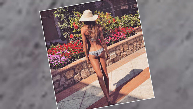 Zauberhafte Aussichten gewährt uns Tennis-Beauty Daniela Hantuchova hier. (Bild: Instagram)