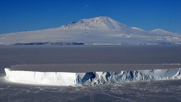 Der Vulkan Mount Erebus in der Antarktis (Bild: AFP/Mark Ralston)
