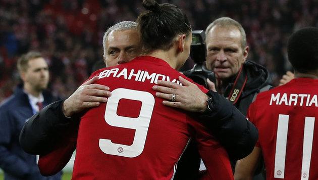 Fix! Ibrahimovic erhält neuen Vertrag bei United (Bild: AFP)