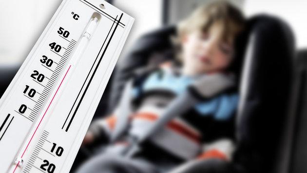 Einjähriger Bub in heißem Auto zurückgelassen: Tot (Bild: stock.adobe.com, krone.at-Grafik (Symbolbild))