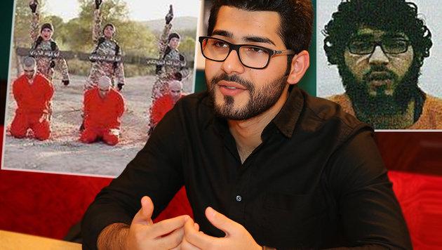 """280 Tage war Masoud Aqil (heute 24) in den Fängen islamistischer Gotteskrieger. (Bild: """"Krone"""", Zwefo, krone.at-Grafik)"""