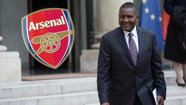 Reichster Afrikaner will Arsenal London kaufen (Bild: AFP)