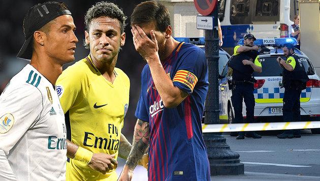 Terror in Spanien: Fußballstars geschockt (Bild: AFP)