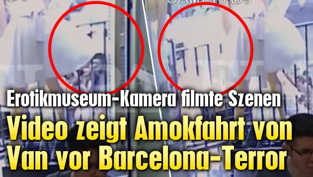 Video zeigt Amokfahrt kurz vor Barcelona-Terror (Bild: El Pais)