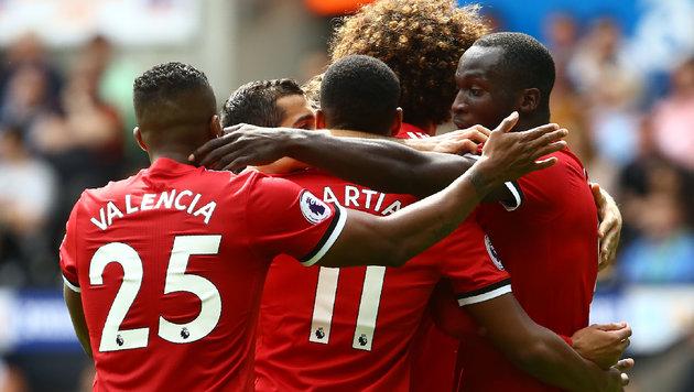 ManUnited mit nächstem Kantersieg: 4:0 in Swansea! (Bild: AFP)