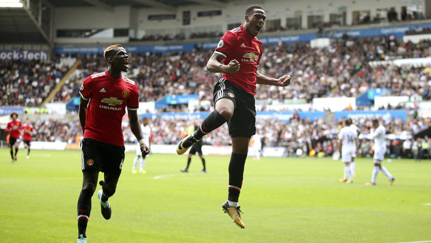 ManUnited mit nächstem Kantersieg: 4:0 in Swansea! (Bild: AP)