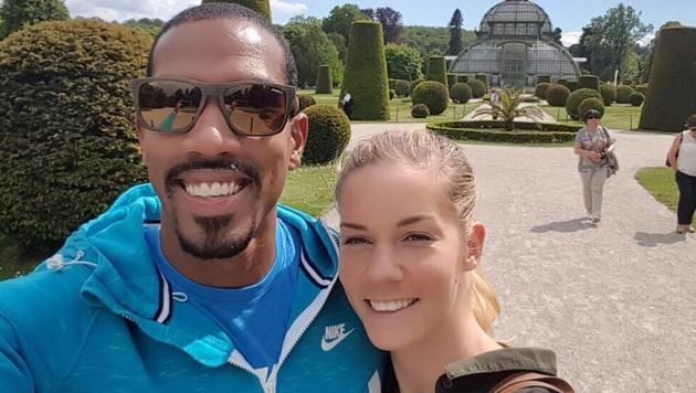 Die beiden Leichtathletik-Stars Beate Schrott und Christian Taylor auf Sightseeing-Tour in Wien! (Bild: facebook.com)