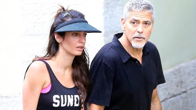 Neu-Papa George Clooney ist nun ein grauer Panther (Bild: www.PPS.at)
