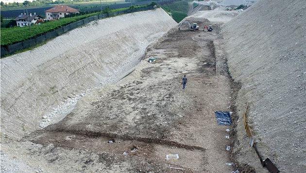 In Schottergrube Grab aus Kupferzeit entdeckt (Bild: Landesamt für Bodendenkmäler)