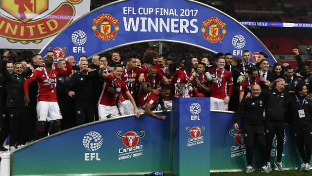 Manchester United ist Titelverteidiger im englischen Ligapokal. (Bild: AFP)