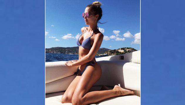 Ann-Kathrin Brömmel, die Freundin von Mario Götze, genießt die Sonne auf Mallorca. (Bild: Instagram.com)