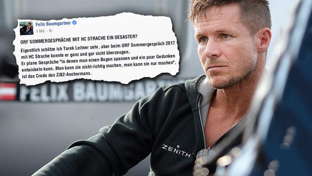 Baumgartner: Strache-Interview des ORF im Visier (Bild: APA/BARBARA GINDL, facebook.com, krone.at-Grafik)