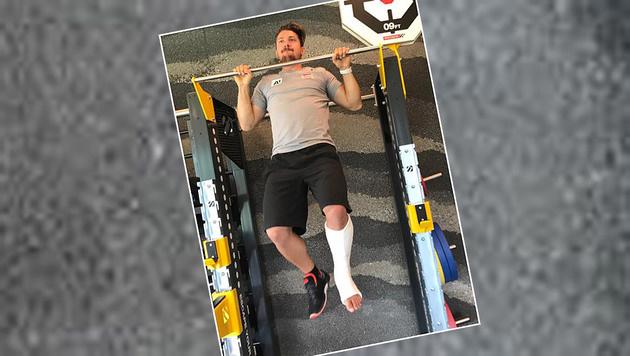 """Marcel Hirscher werkt nach dem Knöchelbruch am Comeback. """"Noch anstrengender als sonst"""", meint er. (Bild: Facebook.com)"""