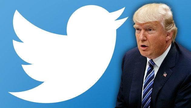 Trump erklärt, warum er alles in die Welt twittert (Bild: AP, krone.at-Grafik)