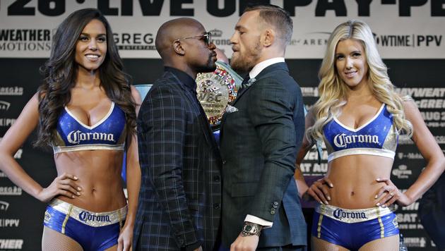 Box-Showdown in Las Vegas! Mayweather vs. McGregor (Bild: AP)