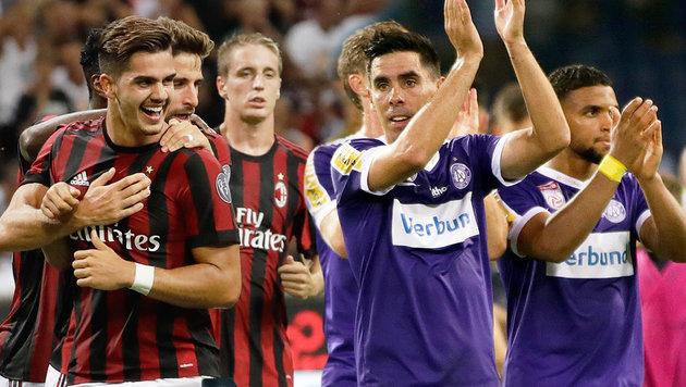 Europa League: Hammerlos! Austria gegen Milan (Bild: GEPA, AP, krone.at-Grafik)