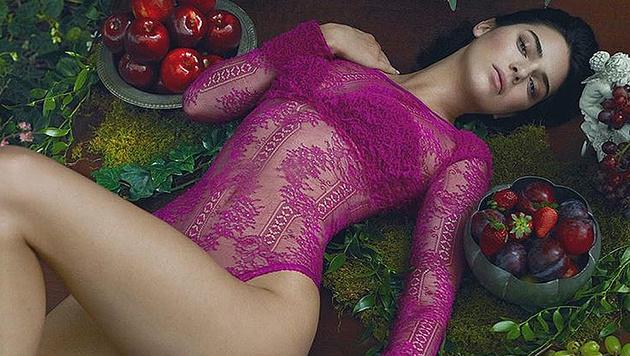 Kendall Jenner posiert für La Perla. (Bild: instagram.com/laperlalingerie)