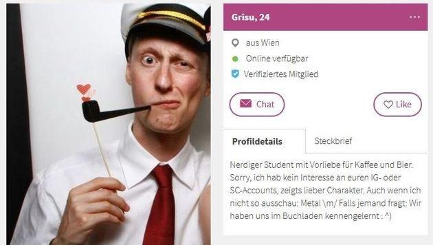 """""""Die lustigsten Online-Dating-Profile der Wiener (Bild: lovoo.com - Grisu)"""""""