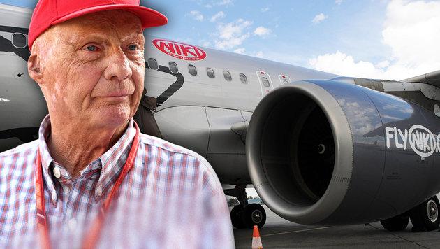 Auch er pokert um Niki mit: Gründer Niki Lauda (Bild: AFP, APA/Barbara Gindl, krone.at-Grafik)