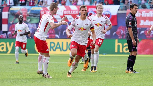 Erster Saisonsieg! RB Leipzig dreht 0:1 in ein 4:1 (Bild: GEPA pictures)
