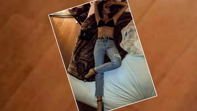 Ester Berdych, Frau von Tennis-Star Tomas, relaxt im knappen sexy Oberteil. (Bild: Insatagram)