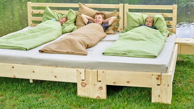 """""""Familien-Betten"""" sorgen für Wirbel (Bild: Marcel J. Peda)"""