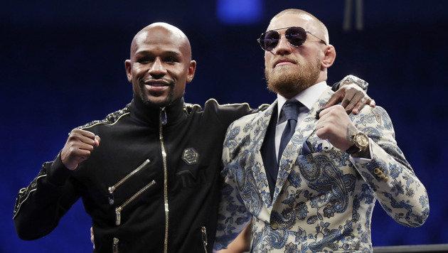"""McGregor an Mayweather: """"Hat Spaß gemacht, oder?"""" (Bild: AP)"""
