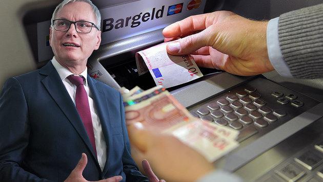 SPÖ-Vorstoß gegen Bankomatgebühren (Bild: APA/BARBARA GINDL, APA/ROLAND SCHLAGER, krone.at-Grafik)