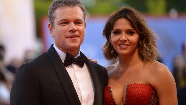 Matt Damon mit Ehefrau Luciana Barroso (Bild: AFP)