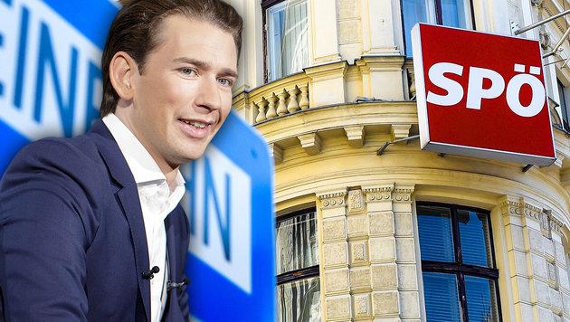 Gericht verbietet Kurz Spenden-Vorwurf an SPÖ (Bild: APA/Helmut Fohringer, APA/Georg Hochmuth, krone.at-Grafik)