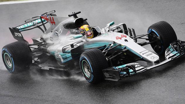 """Hamilton """"schwimmt"""" im Monza-Regen zur Rekord-Pole (Bild: AFP)"""