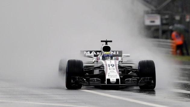 Massa-Bestzeit im Regen von Monza (Bild: AP)