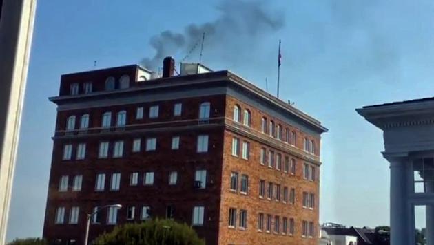 rauch aus russischem konsulat in san francisco dokumente verbrannt welt. Black Bedroom Furniture Sets. Home Design Ideas