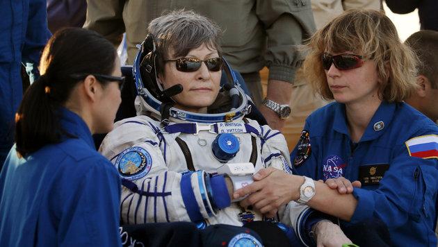 Die Rekord-Astronautin Peggy Whitson (Bild: AP)