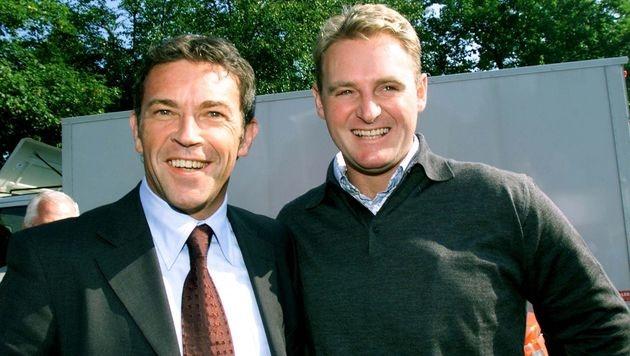 Patrick Ortlieb mit Jörg Haider (Bild: APA)