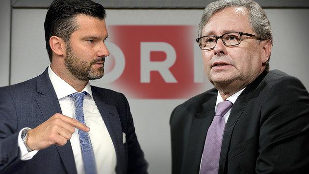 ORF-Stiftungsrat Thomas Zach, ORF-Generaldirektor Alexander Wrabetz (Bild: krone.at-Grafik, APA/NEUBAUER, APA/HOCHMUTH)