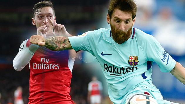 Barcelona: Messi verhinderte Kauf von Özil! (Bild: AP, GEPA, krone.at-Grafik)