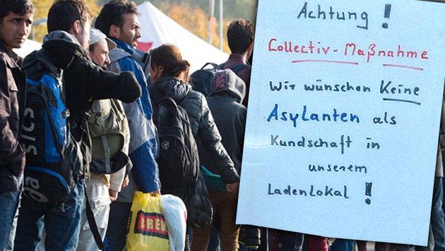 "Händlerin: ""Wir wünschen keine Asylanten"" (Bild: krone.at-Grafik, Screenshot/pnp.de, dpa)"