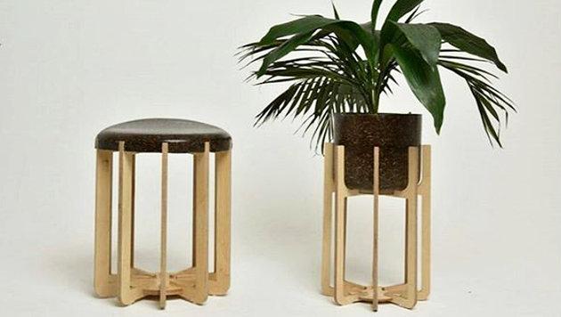 So sehen die Kuhmist-Möbel aus. (Bild: Instagram/erth_designs)