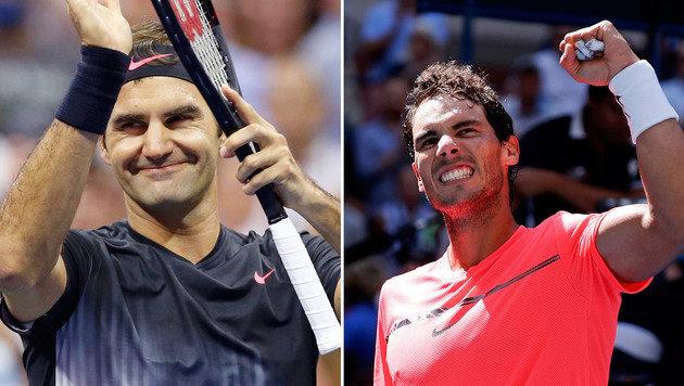 Federer gegen Nadal - das Duell rückt immer näher (Bild: AP)