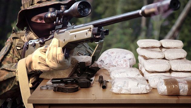 Drogendealer entpuppt sich als Auftragskiller (Bild: stock.adobe.com, krone.at-Grafik)