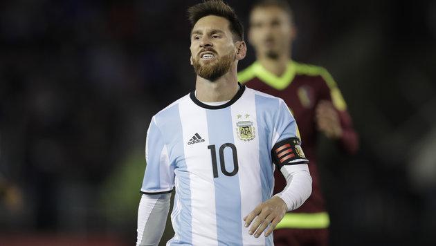 WM-Aus droht: Argentinien und Messi taumeln weiter (Bild: AP)