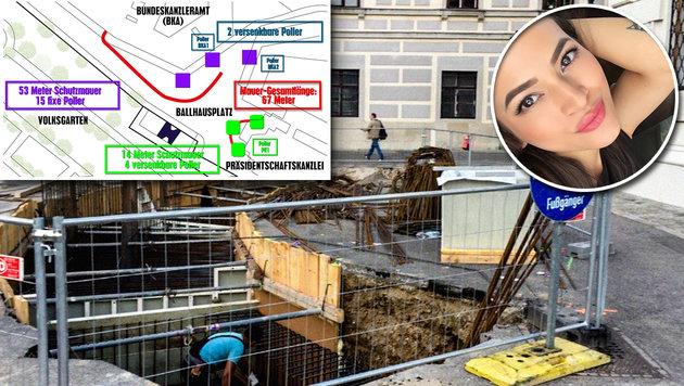 Wiens große Mauer: Wirklich alles falsch gemacht (Bild: twitter.com, krone.at-Grafik)