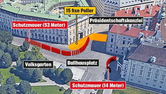 """""""Ob man stoppt oder nicht, die Mauer war sinnlos!"""" (Bild: """"Krone""""-Grafik)"""