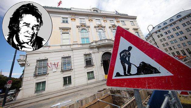 Liebe saublöde Mauer! (Bild: APA/GEORG HOCHMUTH, krone.at-Grafik)