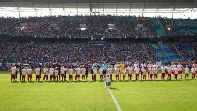 Lok Leipzig verbietet Kids Einlaufen mit RB-Stars (Bild: GEPA)