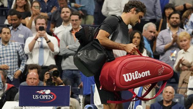 Superstar out! Auch Federer scheitert an Del Potro (Bild: AFP)