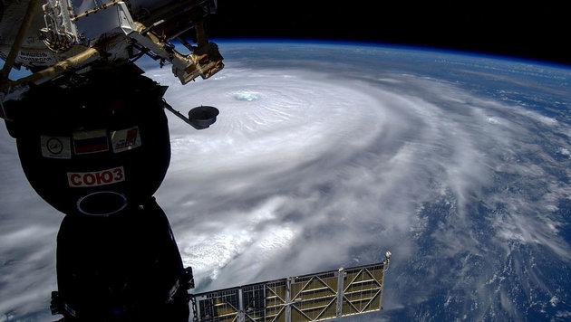 "ISS-Crew filmt Hurrikan ""Irma"" aus dem All (Bild: Roscosmos/Sergey Ryazanskiy)"